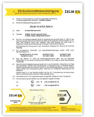 RUMED Zertifikat