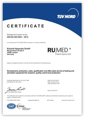 RUMED Certificate