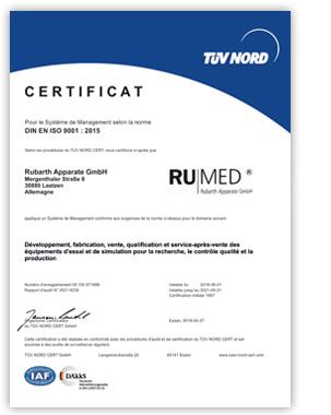 RUMED Certificat